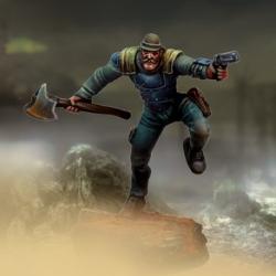 Pistón (filo pesado / puño balístico, pistola y armadura metálica)