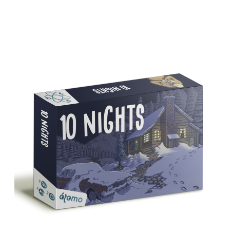 10 NIGHTS is a hidden role-playing game that is sure to delight all players from Atomo Games