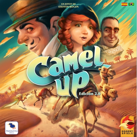 Camel Up 2.0 is a familiar game for 2 to 8 players, simple, fast and scandalously exciting