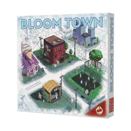 Blom Town is a game for all audiences, in which players build their cities by placing tiles