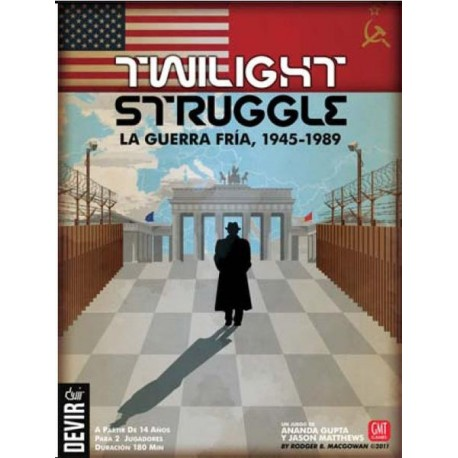 Board game set in the time of the Cold War. Twilight Struggle 1945-1989 game content