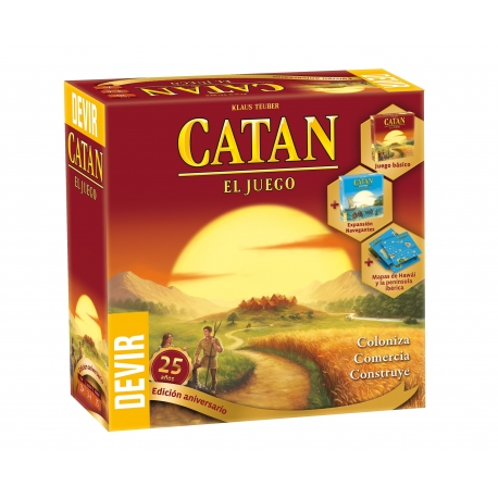 Board game The Settlers of Catan 25th Anniversary Edition of Devir