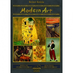 Modern Art is the classic auction game by Reiner Knizia, in its final edition