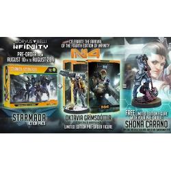 Infinity N4 + Oktavia Grimsdottir Icebreaker Harpooner + Starmada + Shona Carano de Corvus Belli