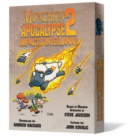 Juego de cartas Munchkin Apocalypse 2: Impacto Interlanar de Edge Entertainment