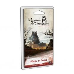 Pack de dinastía Honor en llamas del juego de cartas La Leyenda De Los Cinco Anillos Lcg de Fantasy Flight Games
