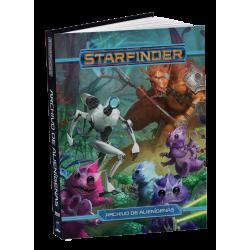 Libro Archivo de Alienígenas del juego de rol Starfinder de Devir