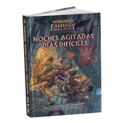 Libro Noches agitadas y días difíciles del juego de rol Warhammer de Devir 8436589620643