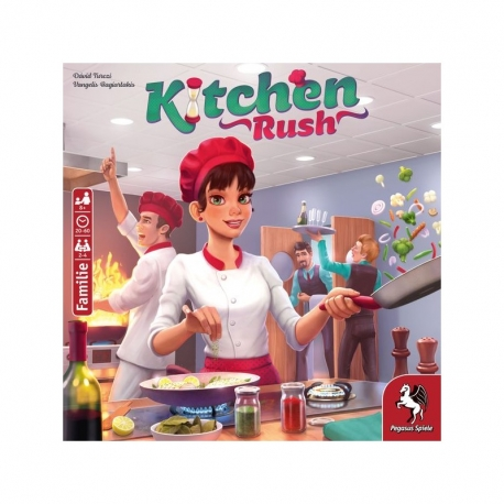 Juego de mesa cooperativo Kitchen Rush Edición Revisada de Pegasus Spiele