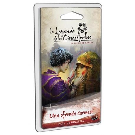La Leyenda De Los Cinco Anillos Lcg Una ofrenda carmesí de Fantasy Flight Games