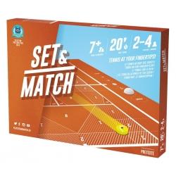 Set & Match is a unique tennis game that recreates the sensations of a tennis match off the court
