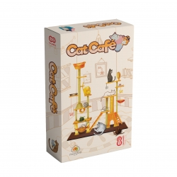Cat Café is a light and fun roll & write board game from Cacahuete Games