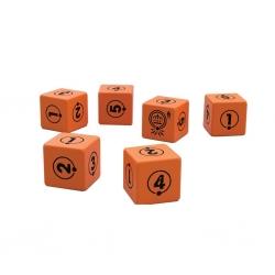 Set de dados naranjas juego de rol Historias del Bucle de Edge Entertainment