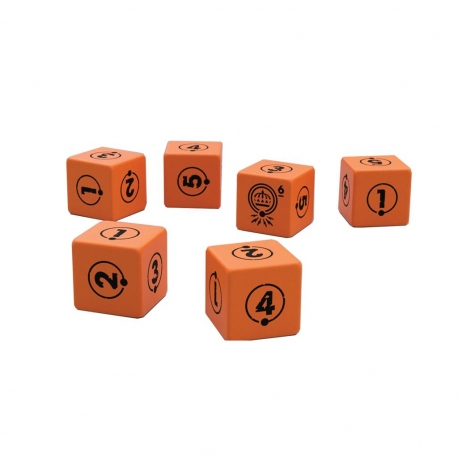 Orange RPG dice set Tales from the Loop by Edge Entertainment