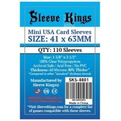 [8801] Sleeve Kings Mini USA Card Sleeves (41x63mm)