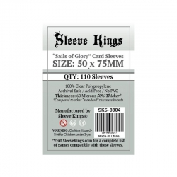 [8804] Sleeve Kings Sails of Glory Card Sleeves (50x75mm)