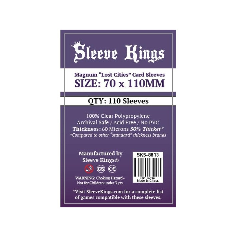 110 New Sleeve Kings Sleeve  80x120mm Magnum Lost Cities Card Sleeves