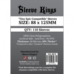[8818] Sleeve Kings Tiny Epic Compatible Sleeves (88x125mm)
