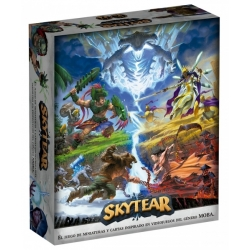 Skytear the board game with 2 to 4 player MOBA style miniatures