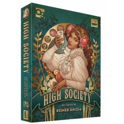 Hight Society es un clásico juego de subastas de Reiner Knizia, los jugadores deben pujar por los lujos de la vida