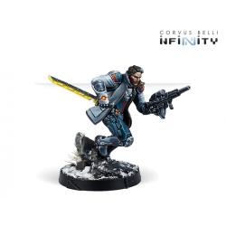 John Hawkwood, Merc Officer (K1 Marksman Rifle) Infinity de Corvus Belli referencia 280750-0858