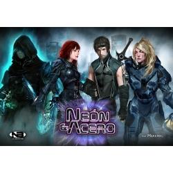 Neón y Acero es una frenética carrera de hasta 5 jugadores para obtener esferas de energía en un oscuro futuro