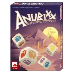 Juego de roll & write Anubixx de Mercurio Distribuciones