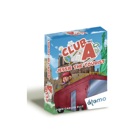 Club A Jessie the tourist card game from Átomo Games