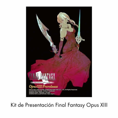 CARD GAME FINAL FANTASY TCG OPUS XIII PRE-RELEASE KIT FROM SQUARE ENIX