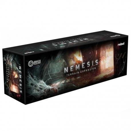 Terrain Pack expansion for Edge Entertainment's Nemesis board game.