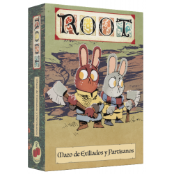 Exiles and Partisans Card Pack for board game Root in Spanish from 2Tomatoes Games
