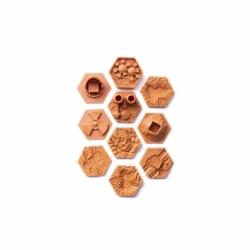 Losetas 3D para Terraforming Mars - Losetas de bonus (marrones)