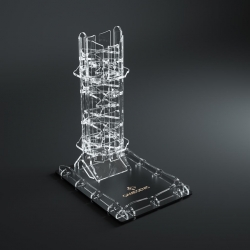Crystal Twister Premium Dice Tower is a spectacular crystal dice tower from Gamegenic