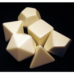 Chessex Opaque Polyhedral Set of 6 blank dice - Opaque Polyhedral White Set of 6 blank dice