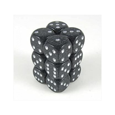 Ninja Speckled 16mm d6 Chessex Dice Sets 12