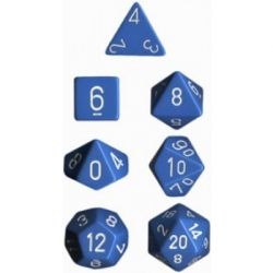 Chessex Opaque Polyhedral 7-Die Sets - Light Blue w/white