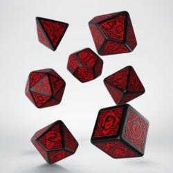 Qw Dados Celtic Revised Black & Red Dice Set (7)