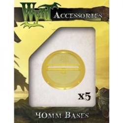 Gold 40mm Translucent Bases (5 pack)