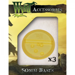 Gold 50mm Translucent Bases (3 pack)