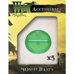 Green 40mm Translucent Bases (5 pack)