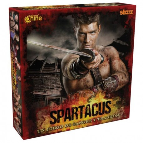 Spartacus in full game, board, fighters, chips, cards ... everything you need