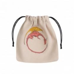 Dragon Beige & multicolor Dice Bag