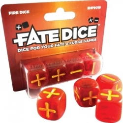 Fate Core Dice: Fire Dice