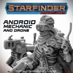 Starfinder RPG Android Mechanic (with Mechanic's Drone) miniature - EN