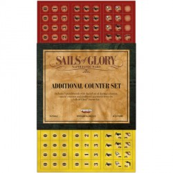Additional Counter Set is an expansion for fans of Sails of Glory, to play battles with more than 10 or 12 boats.