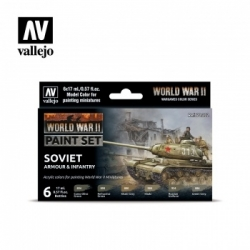 Vallejo WWII Soviet Armour & Infantry Paint Set