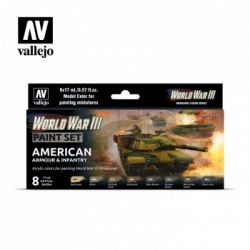 Vallejo WWIII American Armour & Infantry Paint Set