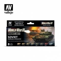 Vallejo WWIII Soviet Armour & Infantry Paint Set