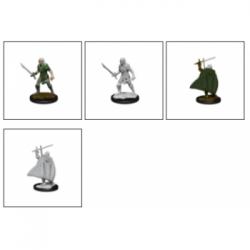 Pathfinder Battles Deep Cuts Unpainted Miniatures - Elf Fighter Male (6 Units)