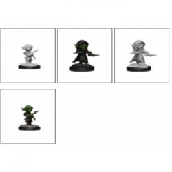 Pathfinder Battles Deep Cuts Unpainted Miniatures - Goblin Rogue Male (6 Units)